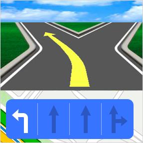 放大图和车道信息